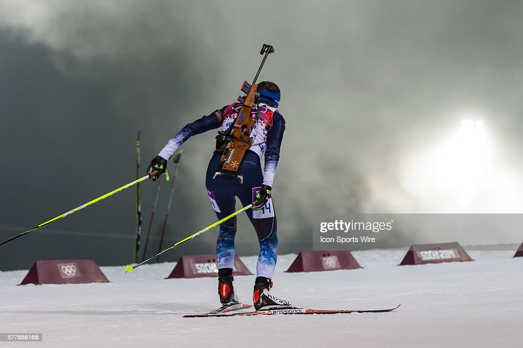 Sara Studebaker during the 10 km Pursuit during the FEB XXII Olympic Games - Biathlon