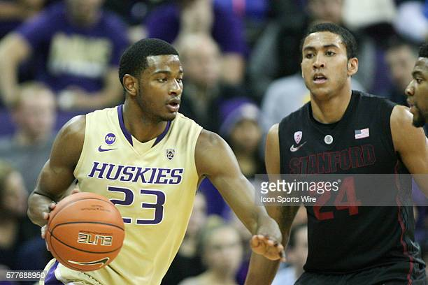 Washington's CJ Wilcox against Stanford Washington defeated Stanford 6460 at Alaska Airlines Arena in Seattle Washington