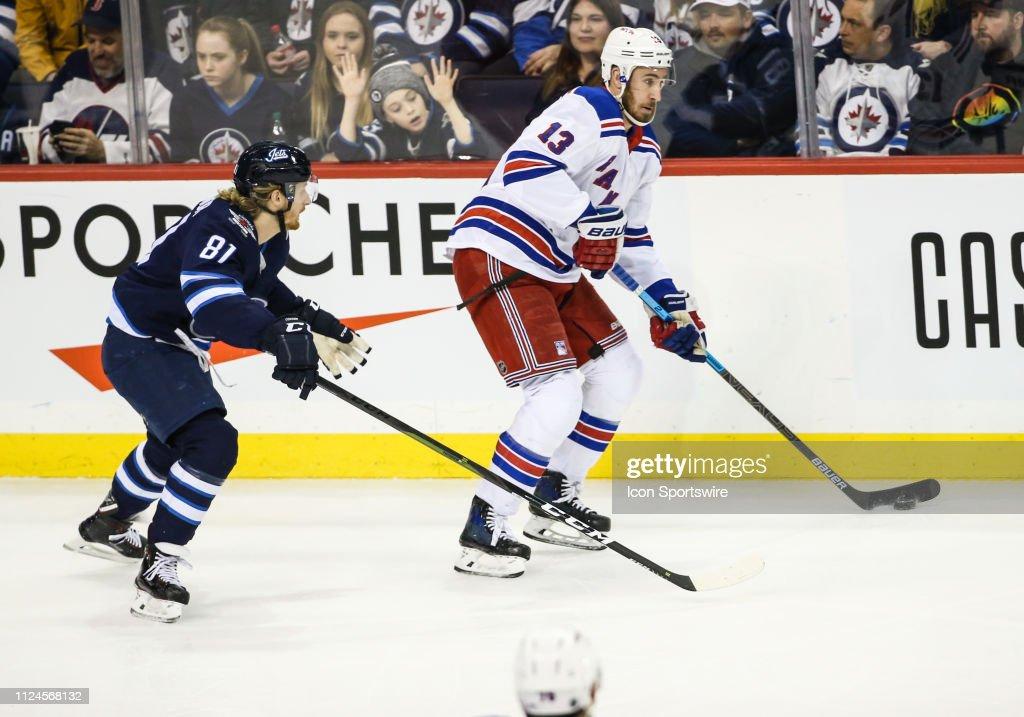 NHL: FEB 12 Rangers at Jets : News Photo