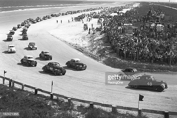 Nascar Pole Position >> Nascar 1950s Daytona Beach Stock Photos and Pictures ...
