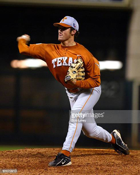 February 14 2004 Houston Texas Minute Maid ParkRice Owls vs Texas Longhorns Longhorns pitcher Huston Street came on in relief to get the win for...