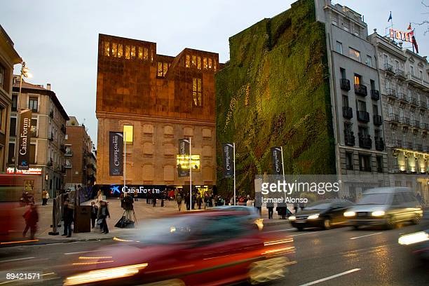 February 14 2008 Madrid Spain Caixa Forum Facade and vertical garden by Patrick Blanc This sociocultural center was inaugurated in downtown Madrid on...
