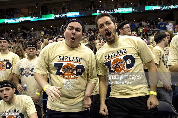 Pitt Panther fans are pumped up as Pitt takes a 20 point lead during the game between the North Carolina Tar Heels and the Pittsburgh Panthers at the...