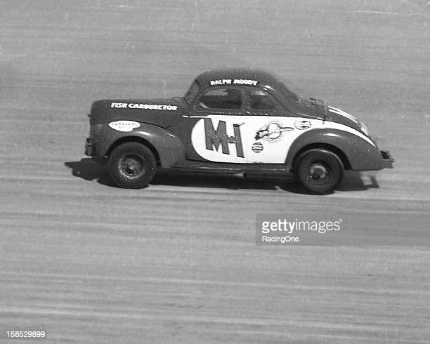 Ralph Moody heads up the beach portion of the Daytona BeachRoad Course during the NASCAR Modified race driving a Bob Fishowned Fish Carburetor 1940...
