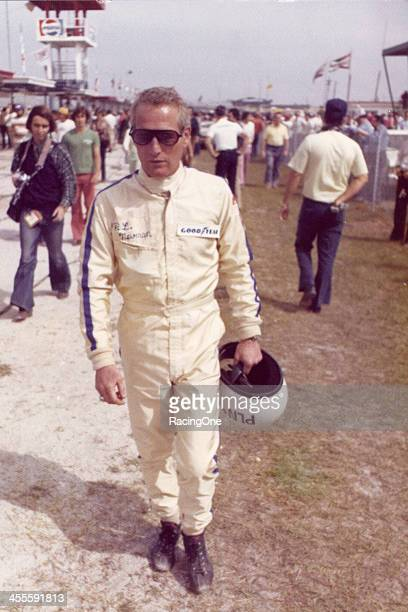 Paul Newman prepares for the start of the Permatex 200 NASCAR Modified race at Daytona International Speedway It was Newmans firstever time running...
