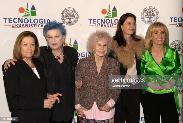 February 15 2007 Ateneo Madrid Spain Homage to Lucia Bose In the image the writer and journalist Natalia Figueroa the actress Lucia Bose the Alba...