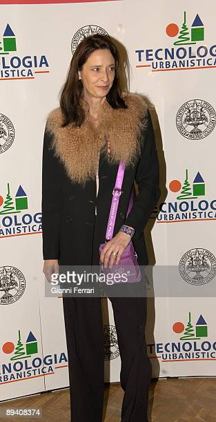 February 15, 2007. Ateneo, Madrid, Spain. Homage to Lucia Bose. In the image, the designer Paola Dominguin daughter of Lucia Bose..