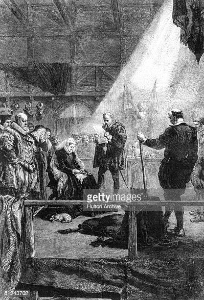 February 1587, The execution of Mary, Queen of Scots, . Her body was buried at Peterborough; in 1612 it was moved to Henry VII's chapel at...