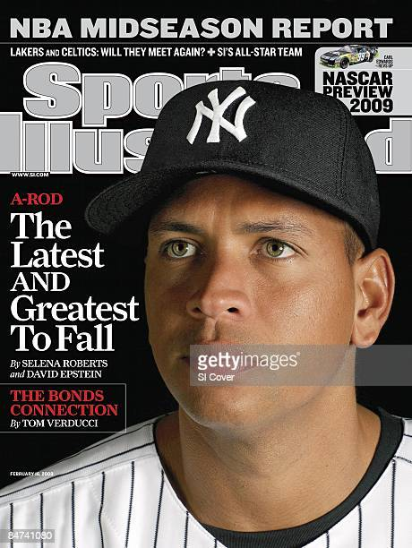 February 16 2009 Sports Illustrated Cover Baseball Portrait of New York Yankees Alex Rodriguez during photo day of spring training at Legends Field...