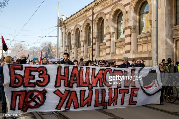 February 16th Sofia Protest No Nazis on our streets against farright nationalist procession called Lukov March Participants in the procession say...