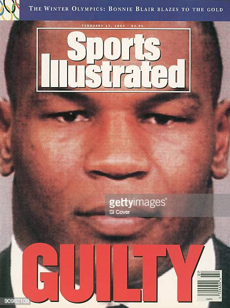 February 17 1992 Sports Illustrated Cover Boxing Closeup mugshot of boxer Mike Tyson Tyson was found guilty on the charge of rape during a February...