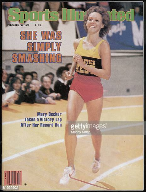 February 18 1980 Sports Illustrated Cover Track Field Millrose Games Athletics West Mary Decker victorious taking victory lap after winning 1500M at...