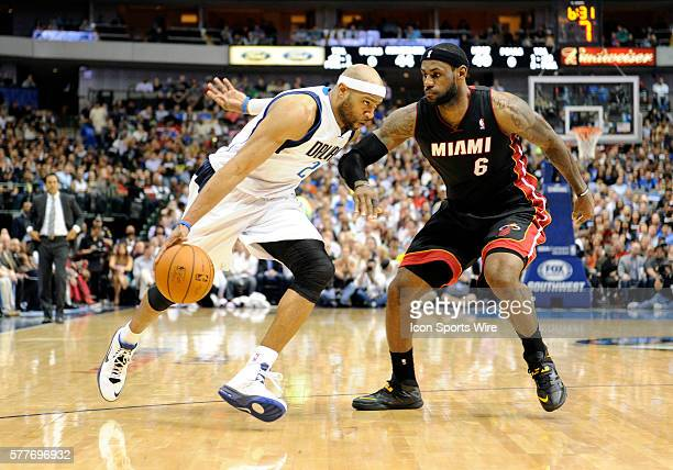 Dallas Mavericks shooting guard Vince Carter during an NBA game between the Miami Heat and the Dallas Mavericks at the American Airlines Center in...