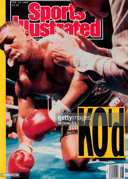 February 19 1990 Sports Illustrated via Getty Images CoverBoxing WBC/WBA/IBF Heavyweight Title Mike Tyson with referee Octavio Meyran after knock out...