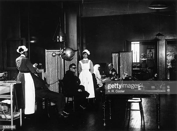 Patients receiving treatment in the Electrical Department of St George's Hospital Hyde Park Corner London