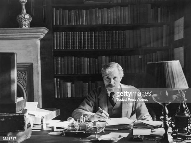 Prime Minister Ramsay MacDonald at work in his study at Chequers.