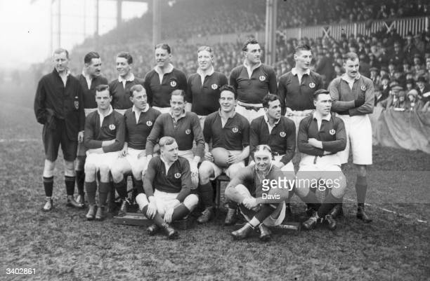 The Scottish rugby union team before their match against Wales at Swansea Although history credits the invention of rugby to Webb Ellis at Rugby...