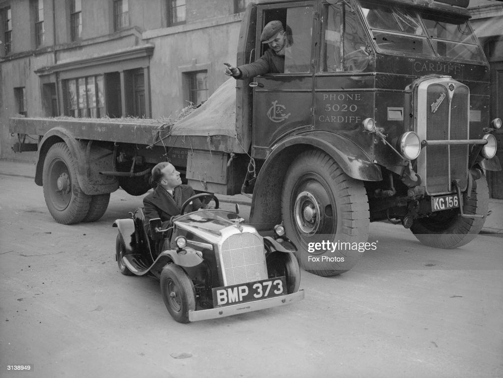 Midget Car In Cardiff : News Photo