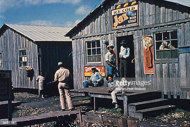 A juke joint and living quarters for migratory workers at Belle Glade Florida