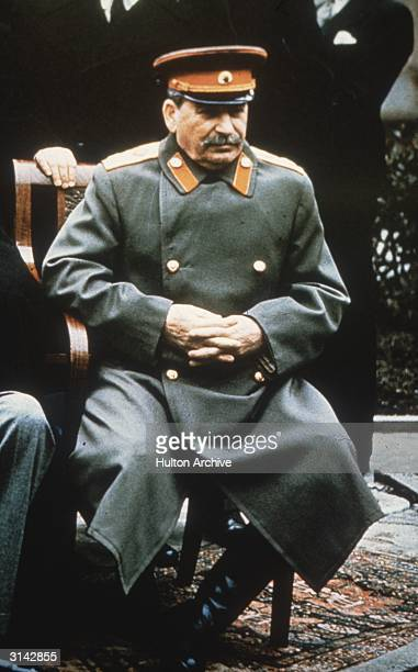 Soviet leader Joseph Stalin in military uniform at the Yalta Conference