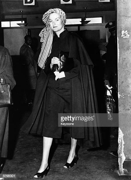 Doris Duke the 'world's richest woman' arriving at La Guardia Airport New York en route from Buenos Aires where her husband Porfirio Rubirosa is...