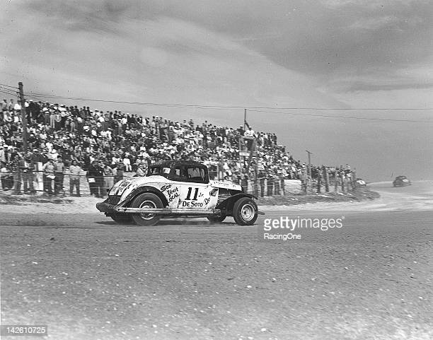 Out of well over 100 entries Red Douglass of New Albany OH had the oldest car in the field for the NASCAR Modified Sportsman race on the Daytona...