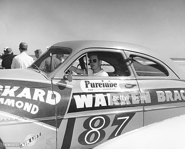 Red Duvall of Hammond IN drove this Packard to a 14th place finish in the NASCAR Cup race on the Daytona BeachRoad Course