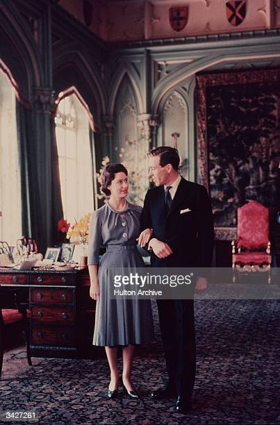 Princess Margaret and Antony ArmstrongJones on the day they announced their engagement