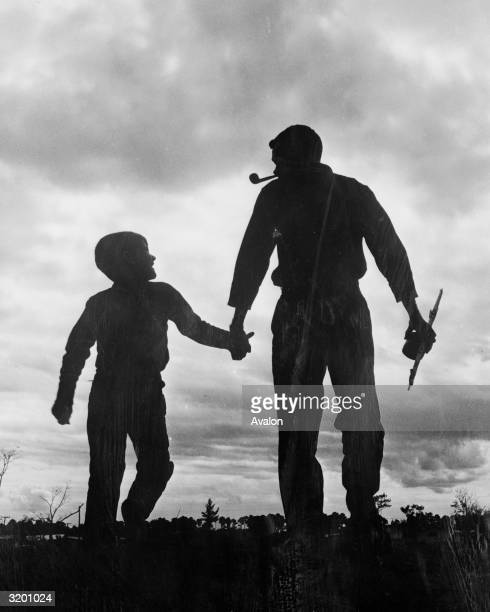 Toby Massey and son Bobby set out for an afternoon of kiteflying