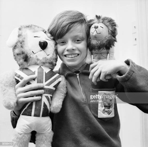 Twelve year old Leo Hoye is the son of commercial artist Reg Hoye the man who designed the world cup mascot Willie the Lion Mr Hoye modelled the...