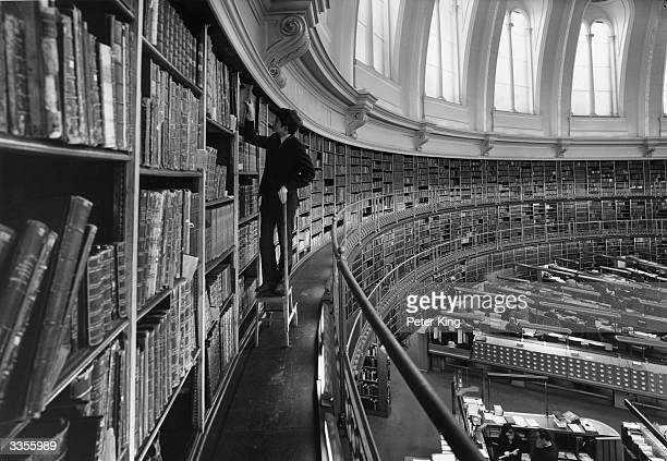A section of the gallery of the famous circular Reading Room at the British Museum in London