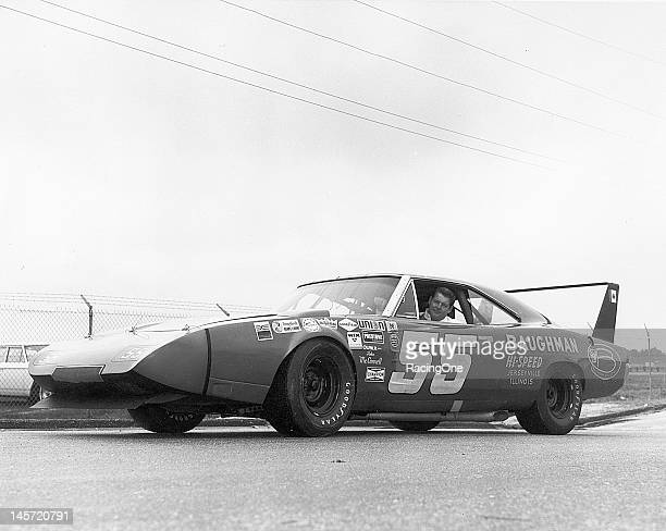 "DeWayne ""Tiny"" Lund drove this winged Dodge Charger Daytona for car owner John McConnell in the Daytona 500 NASCAR Cup race at Daytona International..."