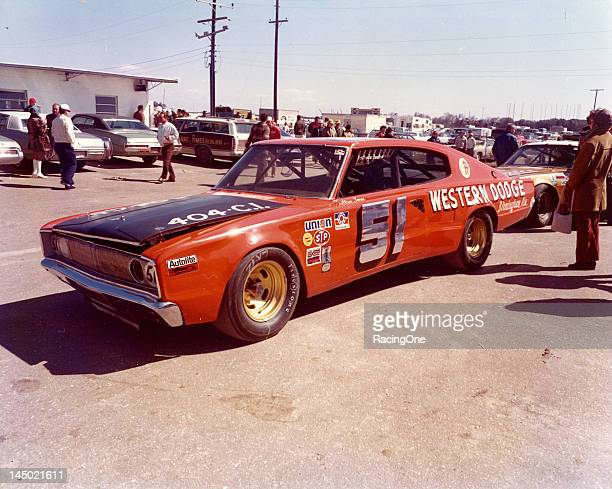 Alton Jones drove this 1967 Dodge Charger to a seventh place finish in the Permatex 300 NASCAR Late Model Sportsman race at Daytona International...