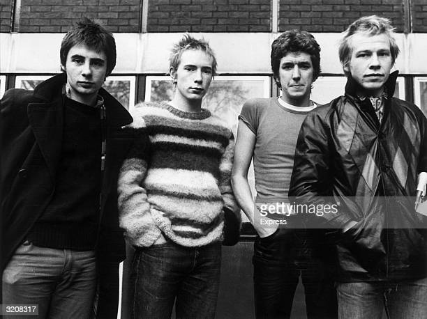 British punkrock group the Sex Pistols Left to right Glen Matlock Johnny Rotten Steve Jones and Paul Cook The Sex Pistols were formed in 1975 by...