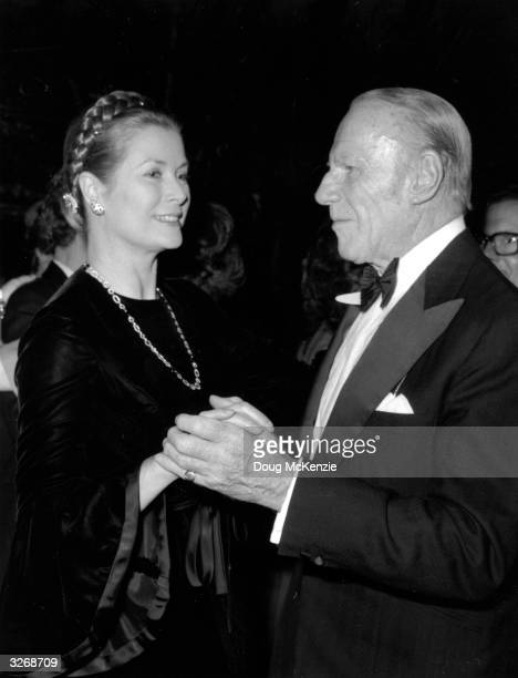 Popular dance band leader Victor Silvester dancing with Princess Grace of Monaco
