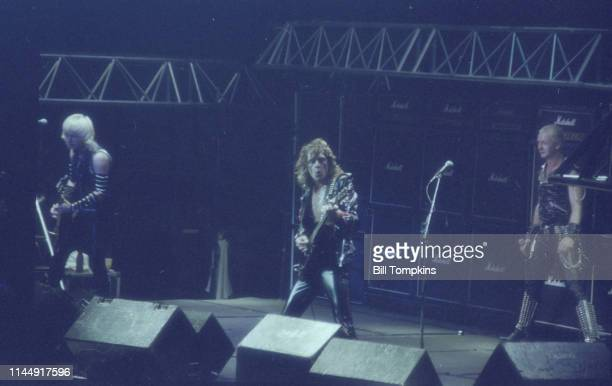 February 1982]: Judas Priest performs at Madison Square Garden February 1982 in New York City.