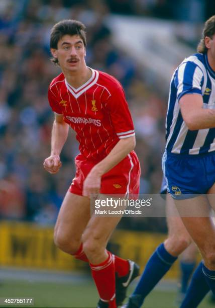 February 1985 - English Football League Division One - Sheffield Wednesday v Liverpool FC - Ian Rush of Liverpool waits for the ball.