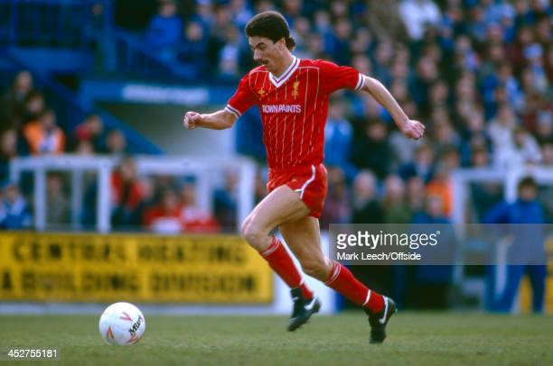 February 1985 - English Football League Division One - Sheffield Wednesday v Liverpool - Ian Rush of Liverpool with the ball.