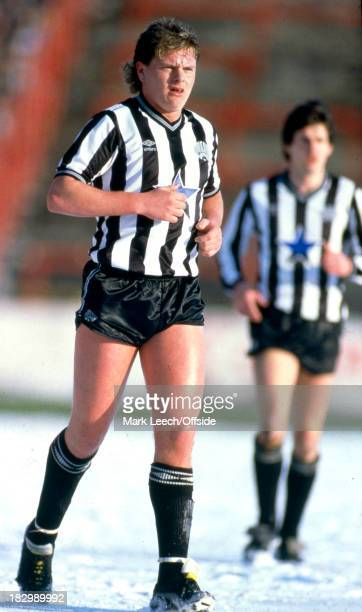 February 1986 - English Football League Division One - Nottingham Forest v Newcastle United - Paul Gascoigne in the snow covered pitch.