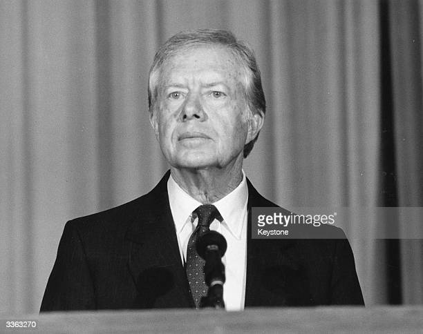 Former US President Jimmy Carter in London
