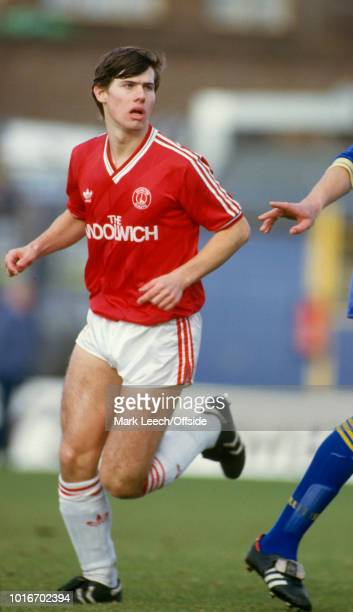 15 February 1987 London Football League Division Two Wimbledon v Charlton Athletic Rob Lee of Charlton