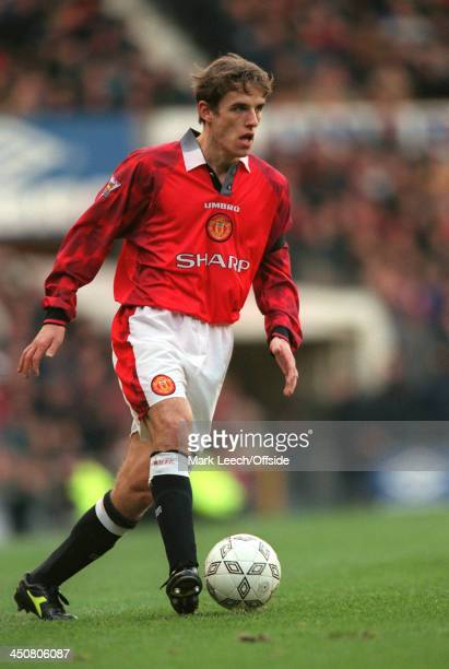 7 February 1998 FA Carling Premiership Manchester United v Bolton Wanderers Phil Neville of United