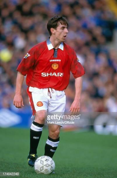 February 1998 Premiership Football - Chelsea v Manchester United - United defender Gary Neville.