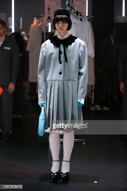 February 19th: A model walks the runway during the Gucci fashion show as part of Milan Fashion Week Fall/Winter 2020-2021 on February 19, 2020 in...