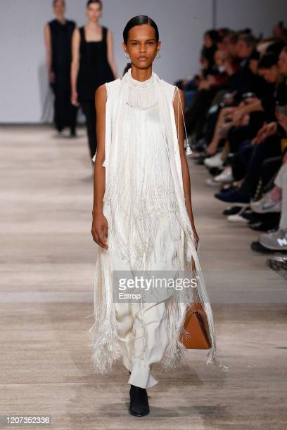 February 19th: A model walks the runway during the Jil Sander fashion show as part of Milan Fashion Week Fall/Winter 2020-2021 on February 19, 2020...