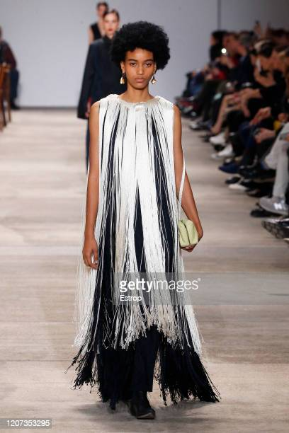 A model walks the runway during the Jil Sander fashion show as part of Milan Fashion Week Fall/Winter 20202021 on February 19 2020 in Milan Italy