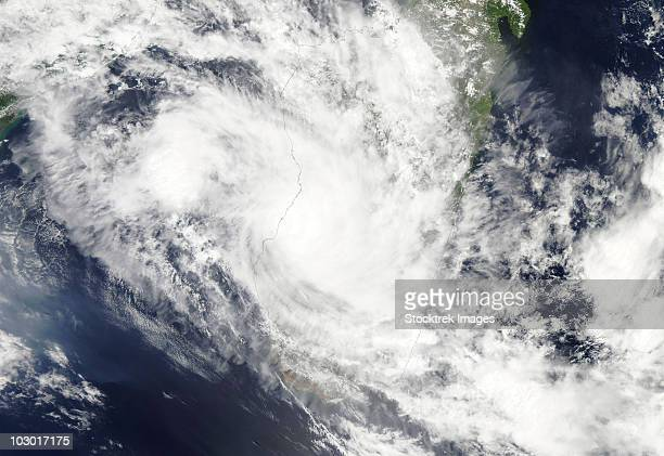 February 2, 2010 - Tropical Cyclone Fami hovers over Madagascar and the Mozambique Channel.