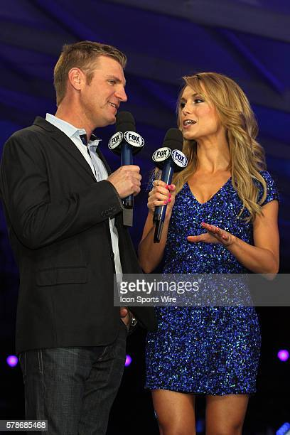 Clint Bowyer and Fox Sports Molly McGrath host the Fox Daytona 500 Beach Bash taped in Daytona Beach Florida