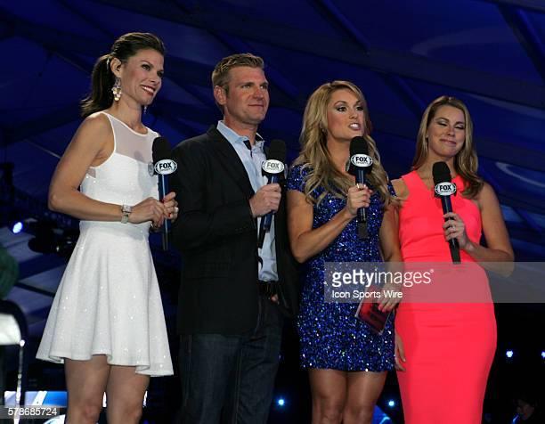 Fox Sports Jamie Little Clint Bowyer Fox Sports Molly McGrath and FOX Sports pit reporter Jenny Taft host the Fox Daytona 500 Beach Bash taped in...