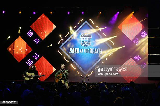 Phillip Phillips performs at the Fox Daytona 500 Beach Bash taped in Daytona Beach Florida